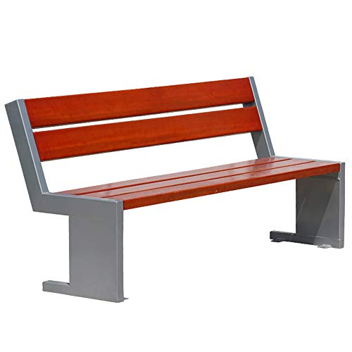 Terrace Bench Outdoor Leisure Bench, Decorative Benches for Home Gardens, Waterproof and anticorrosive Solid Wood Patio Sun Lounger, with backrest