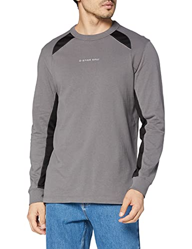 G-STAR RAW Moto Neoprene Camiseta, Gris (Magna C336-c617), XXL para Hombre