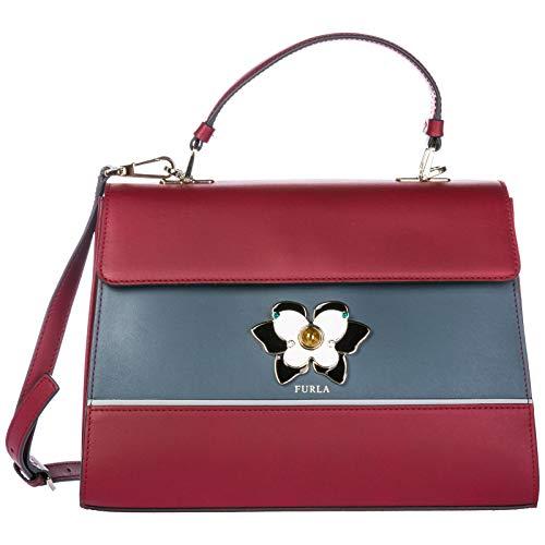 Furla Handtasche Damen Tasche Schultertasche Messenger Bag Mughetto Rot