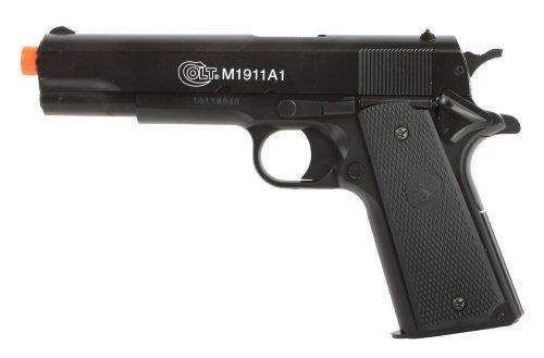 CyberGun Réplica de Pistola Colt M1911 A1 de Aniversario, con Resorte de Sistema BAX y Culata de Metal, 0,5 J
