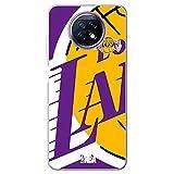 Movilshop Coque pour [ Xiaomi Redmi Note 9T / Note 9T 5G ] NBA Teams Officiel [Los Angeles Lakers]...