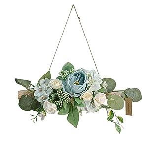 kjhgk Artificial Peony Flower Wreath for Wedding Party Backdrop Decor Spring Summer Decor