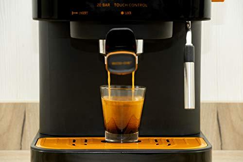 ECODE Cafetera Espresso Forte Touch, 20 Bar, Panel Táctil, Estructura