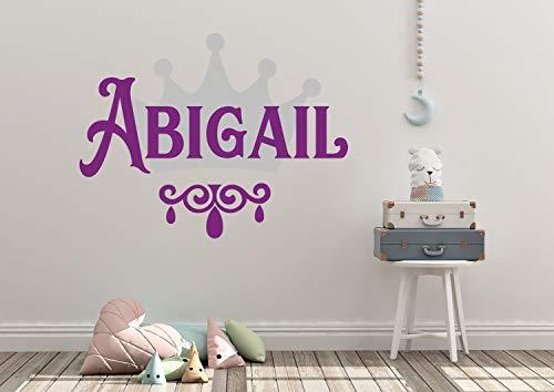 Gebruik: gepersonaliseerde naam, prinses, kroon, wandtattoo, sticker, wandschildering, wooncultuur, citaat, vinyl belettering, kleur teken, sjabloon, geschenk voor kinderkamer juwelen