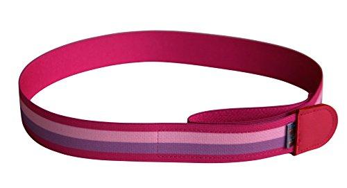 Ed&Kids Kindergürtel Ohne Schnalle Elastisch Größenverstellbar Streifen pink Größe M
