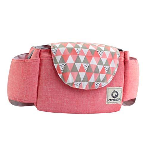 Sharplace Buggy Pram Bag Organiser, Stroller Pram Bag Stroller Organizer Pram Buggies Bag - Pink