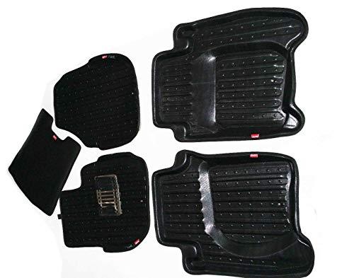 AEspares Juego de alfombrillas para el interior del coche, alfombrillas 3D, color negro, para Honda Jazz