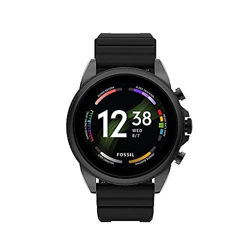 Smartwatch Gen 6 Para Hombre, de Fossil de Acero Inoxidable, en Tono Negro, con Correa de Silicona Negro, FTW4061