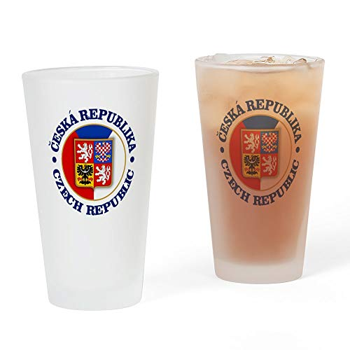 CafePress Tschechische Republik Pint-Glas, 473 ml Trinkglas frosted