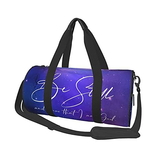 Be Still and Know - Bolsa de viaje de la Biblia de acuarela, bolsa de viaje grande, bolsa de viaje durante la noche