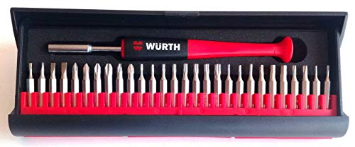 Wurth 6134895 Juego de Puntas Finas Surtidas Destornillador mecánico de precisión 29 Piezas