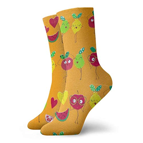 Warm-Breeze Funny Fruit Compression Socks Unisex Socks Fun Fun Crew Socks Thin Socks Short Cheville For Outdoor Athletic Moisture Wicking