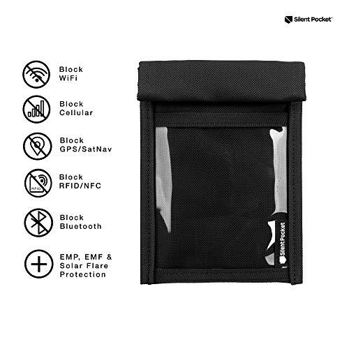 Silent Pocket Quick Access Utility Faraday Bag - Waterproof Signal Blocking Nylon - Device Shielding...