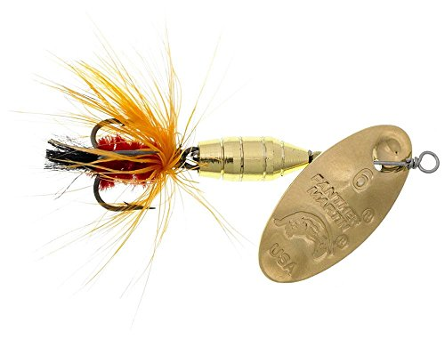 Panther Martin Deluxe Fly Spinning Lure, Gold/Orange, 1/8 oz
