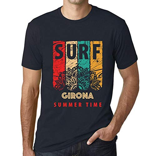 One in the City Hombre Camiseta Vintage T-Shirt Gráfico Surf Summer Time GIRONA Marine