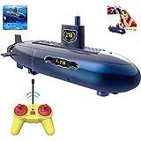 U-Boot Mini Radio Fernbedienung Schwimmbad Spielzeug Grey 2.4G Simulation Fernbedienung Shark Boat Toy Telisii RC Electric Toy wiederaufladbares 4-Kanal RC Shark Fish Boat