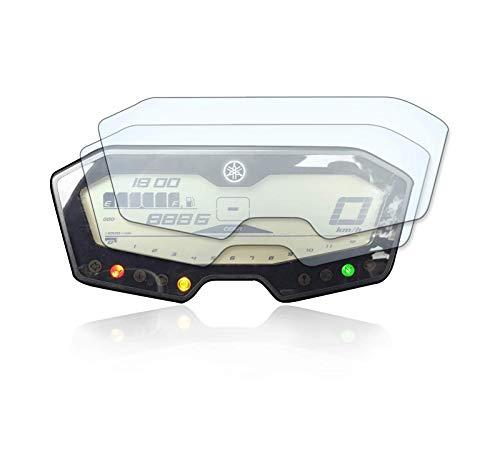 [2 Stück] Displayschutzfolie Tacho Schutzfolie geeignet für Yamaha MT-07/700 Tracer Panzerglas