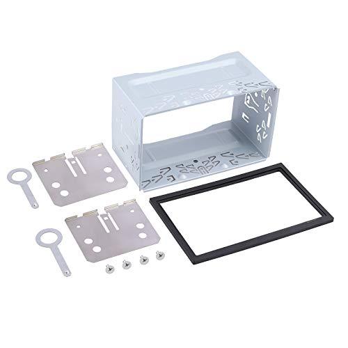 Justech - Kit de instalación universal para radio estéreo de coche, kit de instalación de hierro, marco para unidad de montaje de jaula para reproductor de DVD estéreo doble de 2 DIN para coche