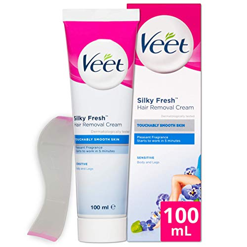 Veet Pure Inspirations Hair Removal Cream for Sensitive Skin, for Legs and Body, 100ml