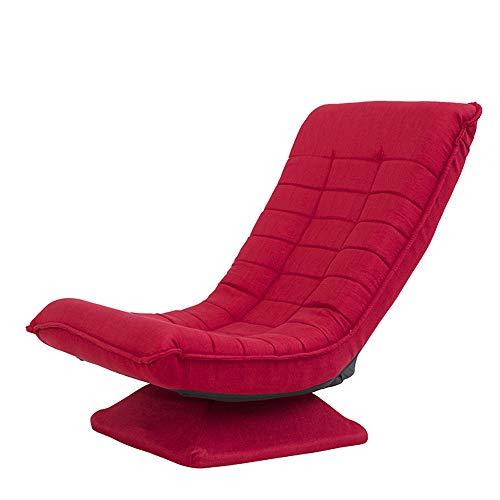 Aszhdfihas-sofa Divano Pigro Moderno Singolo Multi-Funzionale Pieghevole Semplice Divano Sedia Casual Sedia Camera da Letto Balcone Soggiorno Sedia, Sacchi di Fagioli del Salone (Colore : Rosso)