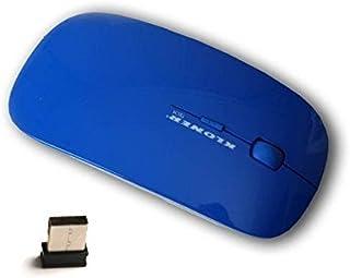 Kloner KRW0088 - Ratón Optico, Cable USB 2.0, Compatible con Windows y Mac, Color Negro