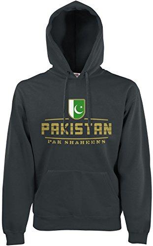 AkyTEX Pakistan Fan Hoodie Kapuzenpullover WM2018 Graphit L