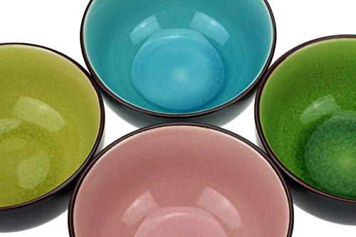 4 x Urban Lifestyle Teeschale, Matchaschale Set in 4 verschiedenen Farben