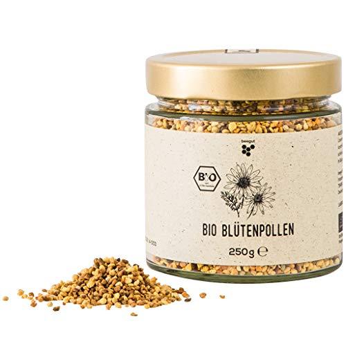 beegut BIO Blütenpollen, 250g mild süße Bienenpollen, rein & natürlich, nachhaltige Verpackung