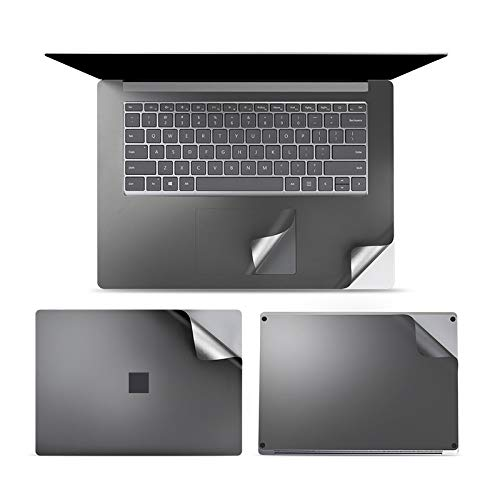 4 in 1 Notebook Shell Protective Film Sticker Set for Microsoft Surface Laptop 3 15 inch Easy to use (Color : Grey)