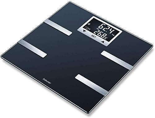 Beurer BF 720 Pèse-personne impédancemètre Bluetooth, affichage poids, graisse corporelle, taux de muscle et besoins en calories AMR / BMR, synchronisation avec ou sans application pour Smartphone