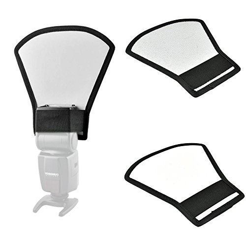 Phot-R® Universal Silver and White Reflector Diffuser Softbox for Flashguns S.