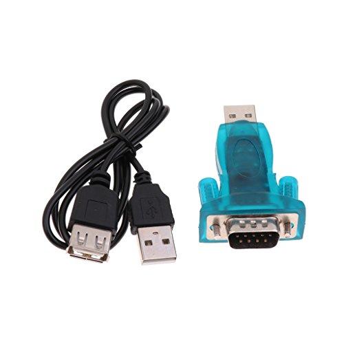 IPOTCH USB zu RS232 COM Anschluss Seriell 9 Poliger DB9 Stecker Adapter Kabel Plug & Play