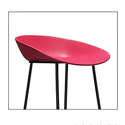 Dyljyf Moderne minimalistische barkruk ijzeren barkruk rugleuning hoge kruk barkruk reception casseerer hoge stoel startpagina