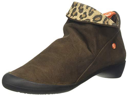 Softinos Damen Farah Stiefeletten, Braun (Ground/Leopard Print W8quz), 39 EU