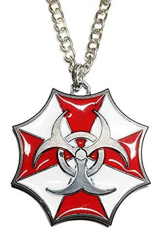 Main Street 24/7 Resident Evil Umbrella Biohazard Logo Metal/Enamel Pendant
