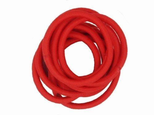 10 Snag Free Red Endless Hair Elastics Bobbles Hair Bands Various colours
