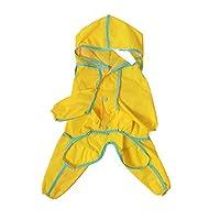 キャップ防水スーツのための犬のペット服のための犬ペットアクセサリー犬服犬のレインコートつなぎ服パーソナライズWaterprofe服 CHAOCHAO (色 : Yellow, Size : XXXL)