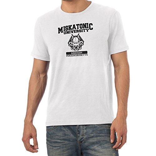 Texlab Herren Miskatonic University T-Shirt, Weiß, XL