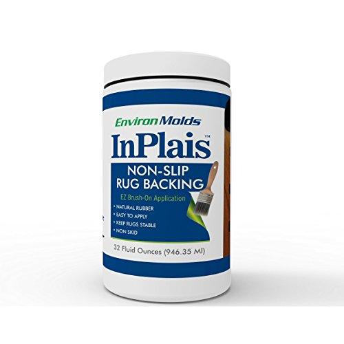 InPlais Non-Slip Area Rug Backing (32 oz.) Fabric & Floor Safe Latex Layer | Kitchen, Bathroom, Hallway, Living Room