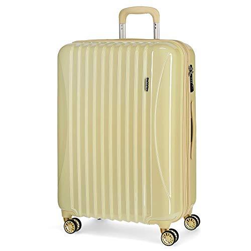 Movom Trafalgar Maleta mediana Amarillo 48x67x26 cms Rígida ABS Cierre TSA 71L...