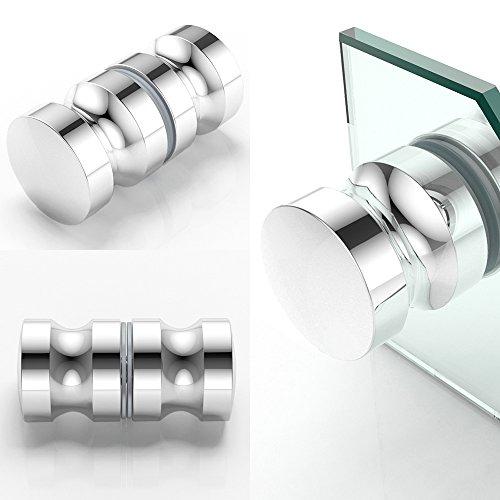 Türgriff TG05 aus Aluminium für Glastüren | Geeignet für Glasstärken von 4-8 mm | Ø38 mm | Form: rund