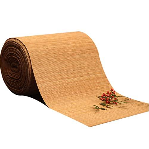 JLCP Camino de Mesa De Bambú Natural, Estilo japones Manteles Esteras Decoración Mesa para Hotel/Cocina/Comedor/Sala De Reuniones Resistente al Calor, Antideslizante,40x120cm