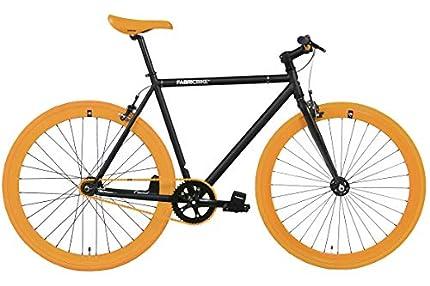 FabricBike- Bicicleta Fixie, piñon Fijo, Single Speed, Cuadro Hi-Ten Acero, 10,45 kg. (Talla M)
