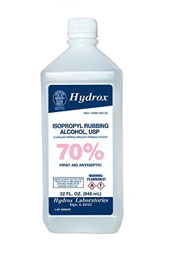 Hydrox 70% Isopropyl Rubbing Alcohol USP, 32 oz.