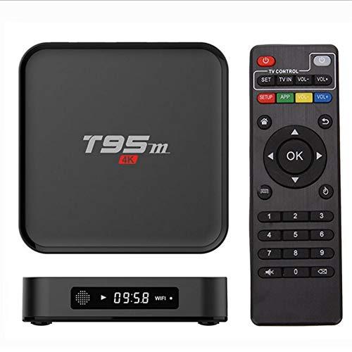 HCDMRE T95M Android 6,0 Google Internet TV Box, 1GB RAM 8GB ROM con S905X Quad Core 64Bit 2.4 GHz WiFi Soporte 4K HD