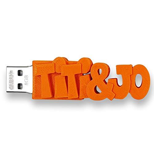 Individueller persönlicher USB Stick Datenstick mit eigenem Namen/Schriftzug und Farbe nach Wahl - USB 3.0 – 8GB, 16 GB oder 32 GB – einzigartiges Geschenk