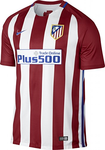 Nike Men's Atletico Madrid Home Stadium Soccer Jersey (X-Large) Red, White