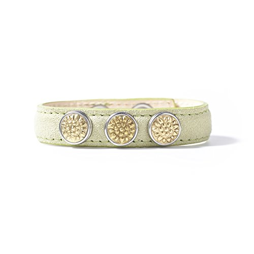 NOOSA-Amsterdam Petite Leder Armband - Light Green Pastel - Gr. M