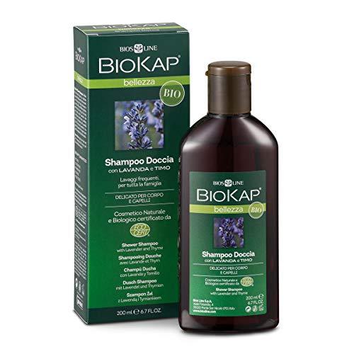 BIOKAP milde shampoo voor dagelijks wassen met zoete amandelolie en Yucca Douche-shampoo 2-in-1