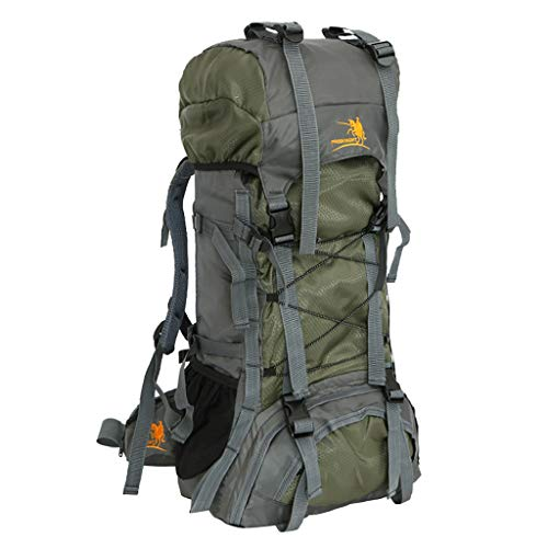 Fewear 60L High Capacity Sports Ultralight Backpacks,Waterproof, Lightweight, Durable, Internal-Frame Backpack for Hiking, Backpacking, Travel and Camping (Army Green)